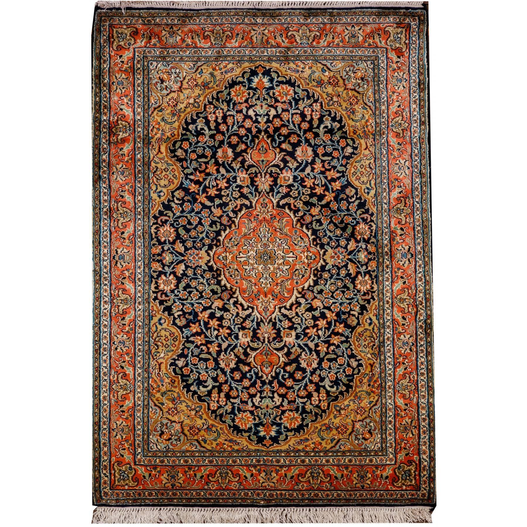 Nowość Dywan Kashmir, ręcznie tkany w Indiach jedwabny . RT94