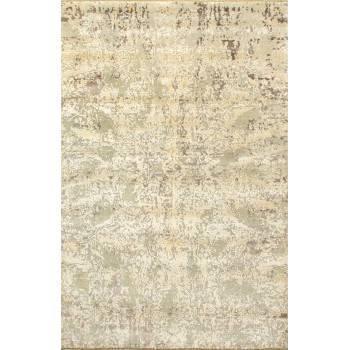 Orientalny Jedwabno-wełniany indyjski dywan