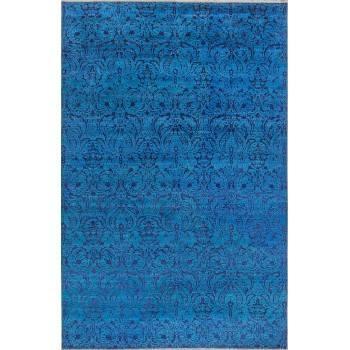 Indyjski dywan utkany z wełny i jedwabiu