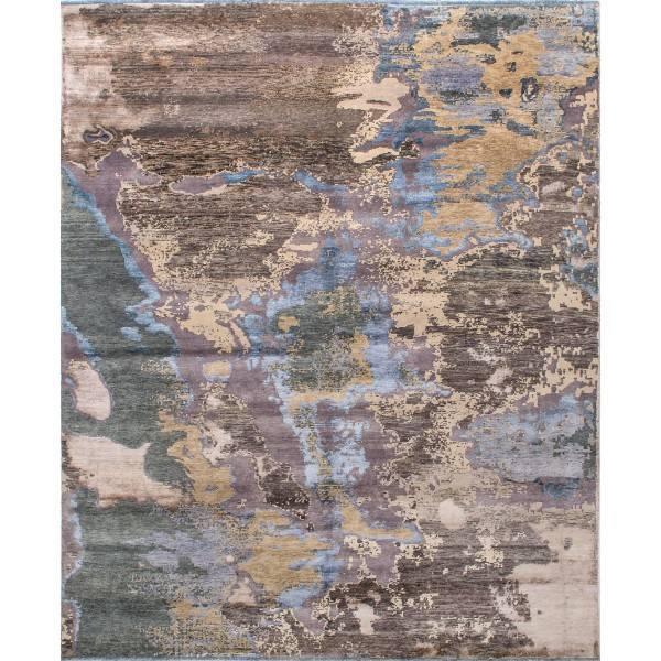 Orientalny ręcznie utkany jedwabno-wełniany dywan