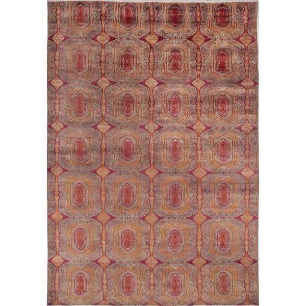 Indyjski, orientalny jedwabno-wełniany dywan