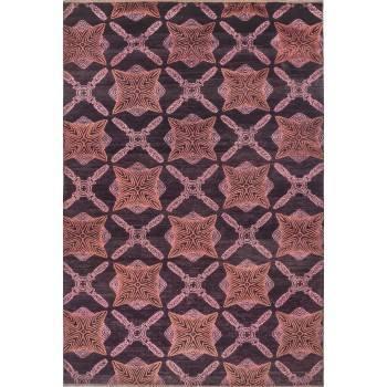 Indyjski dywan z wełny i jedwabiu