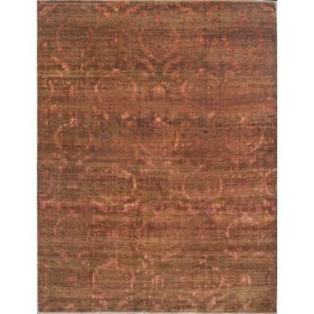 Orientalny, indyjski, dywan utkany z wełny i jedwabiu