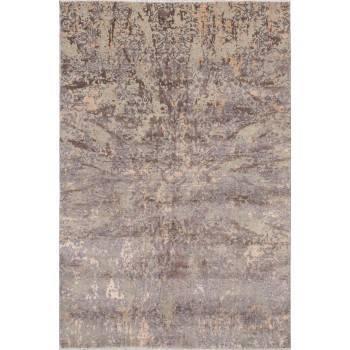 Dizajnerski, orientalny, indyjski, dywan utkany z  jedwabiu i wełny