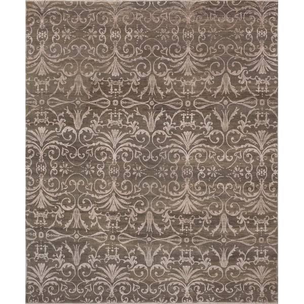 Nowoczesny, indyjski dywan utkany z  wełny