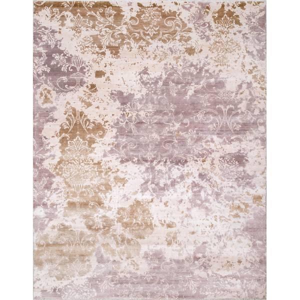 Dizajnerski, ręcznie tkany jedwabny dywan z Indii