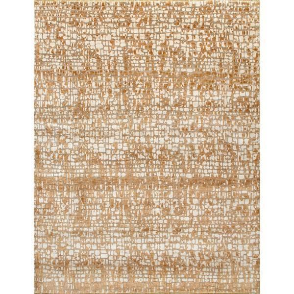 Indyjski, orenitalny, ręcznie tkany jedwabny dywan