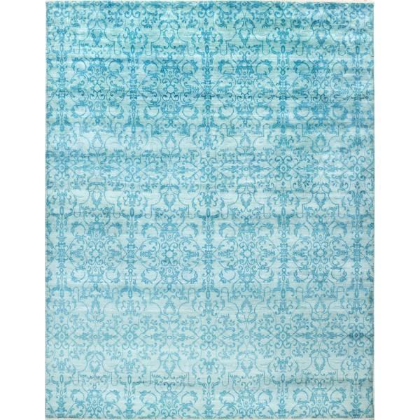 Indyjski, orientalny ręcznie tkany dywan z wełny i jedwabiu
