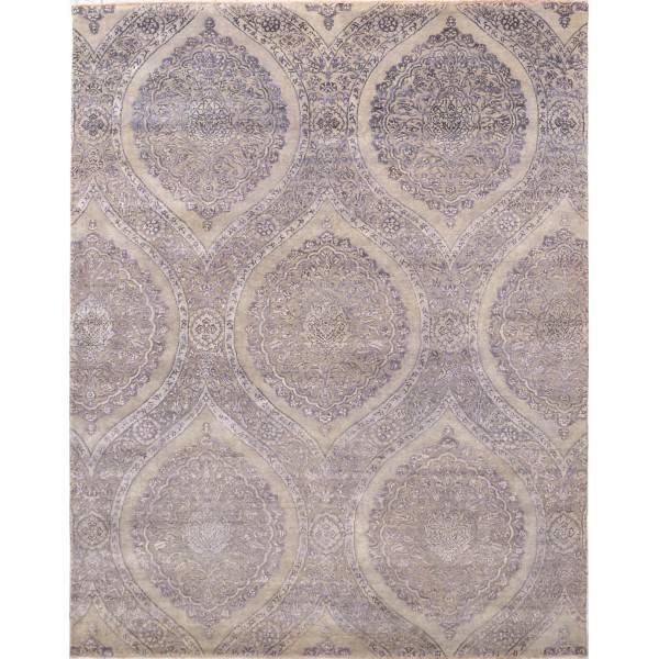 Jedwabno-wełniany indyjski dywan
