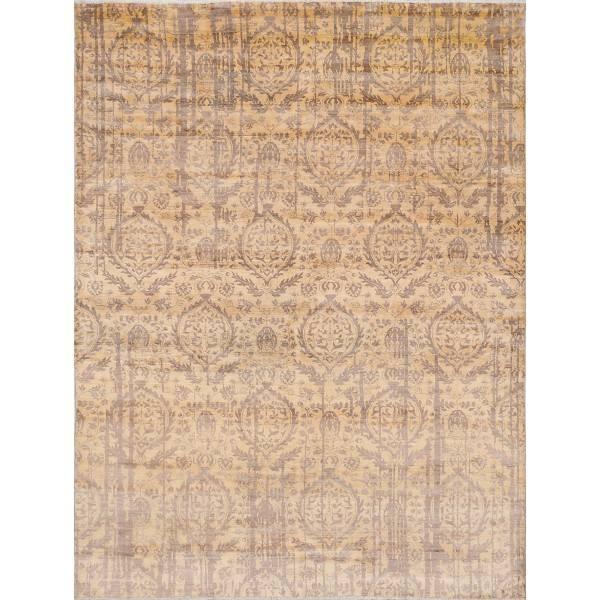 Orientalny, jedwabny, indyjski, ręcznie tkany dywan