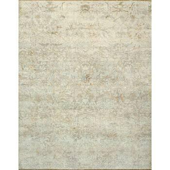 Dizajnerski, ręcznie utkany jedwabno-wełniany dywan