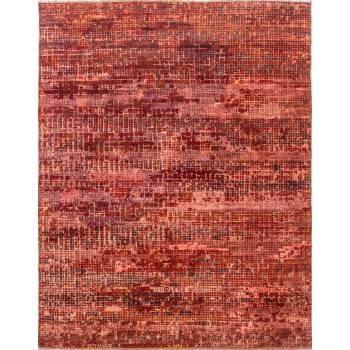 Indyjski, orientalny, ręcznie tkany dywan z jedwabiu i wełny