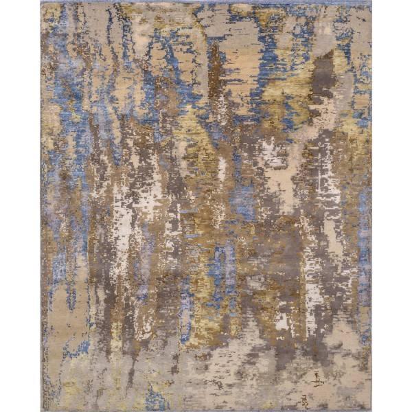 Utkany z wełny i jedwabiu, orientalny, indyjski dywan