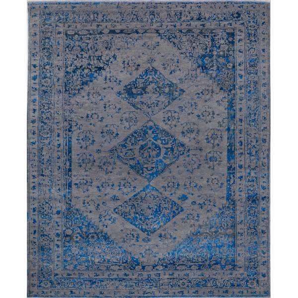 Indyjski, ręcznie tkany jedwabny dywan
