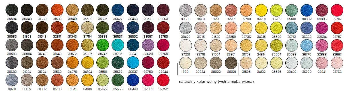 projektowanie kolory welny