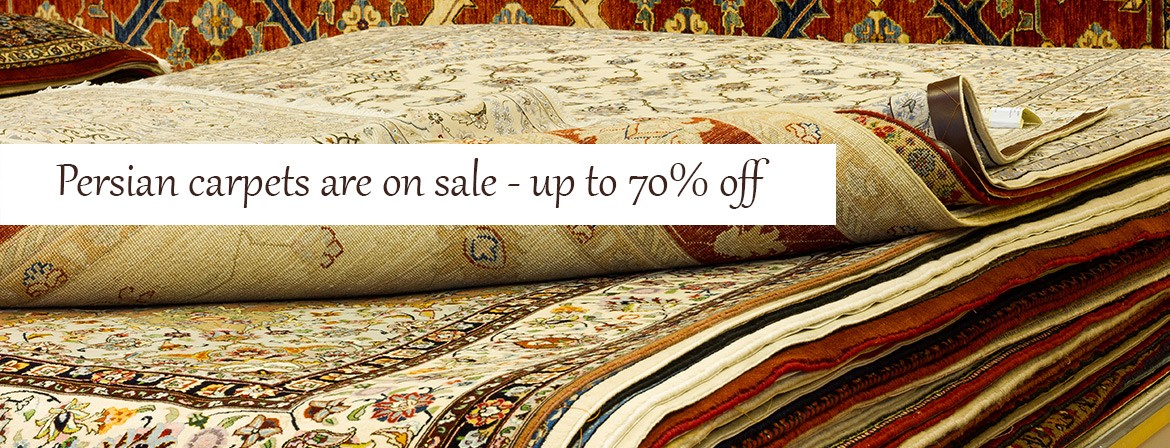 Persian carpets are on sale - up to 70% off